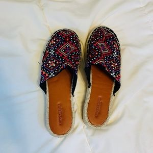 American Eagle Embroidered Slides - US7